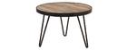 Table basse ronde design industriel 50x35 cm ATELIER