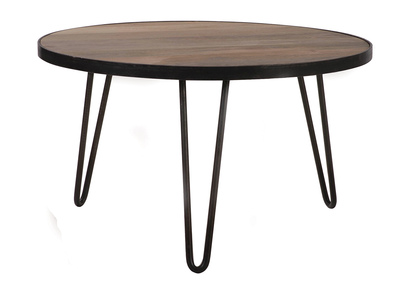 Table basse ronde design industriel 80x45cm ATELIER