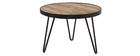 Table basse ronde design industriel D50 x H35 ATELIER