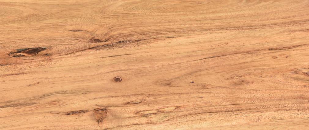 Table basse ronde en acacia massif et métal SPIRIT