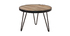 Table basse ronde industrielle en manguier massif D50 x H35 cm ATELIER