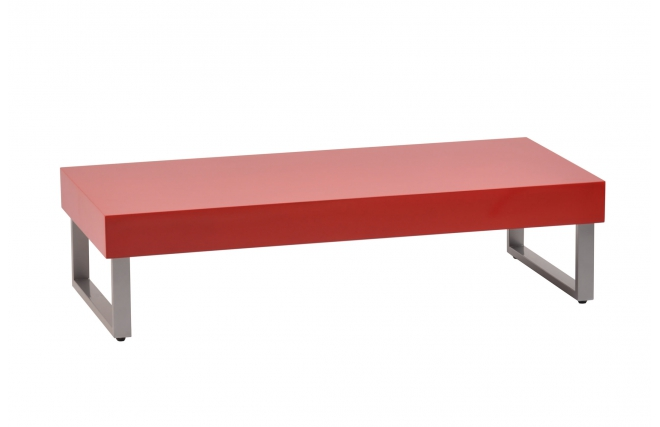 Table basse laquee rouge for Miliboo table basse