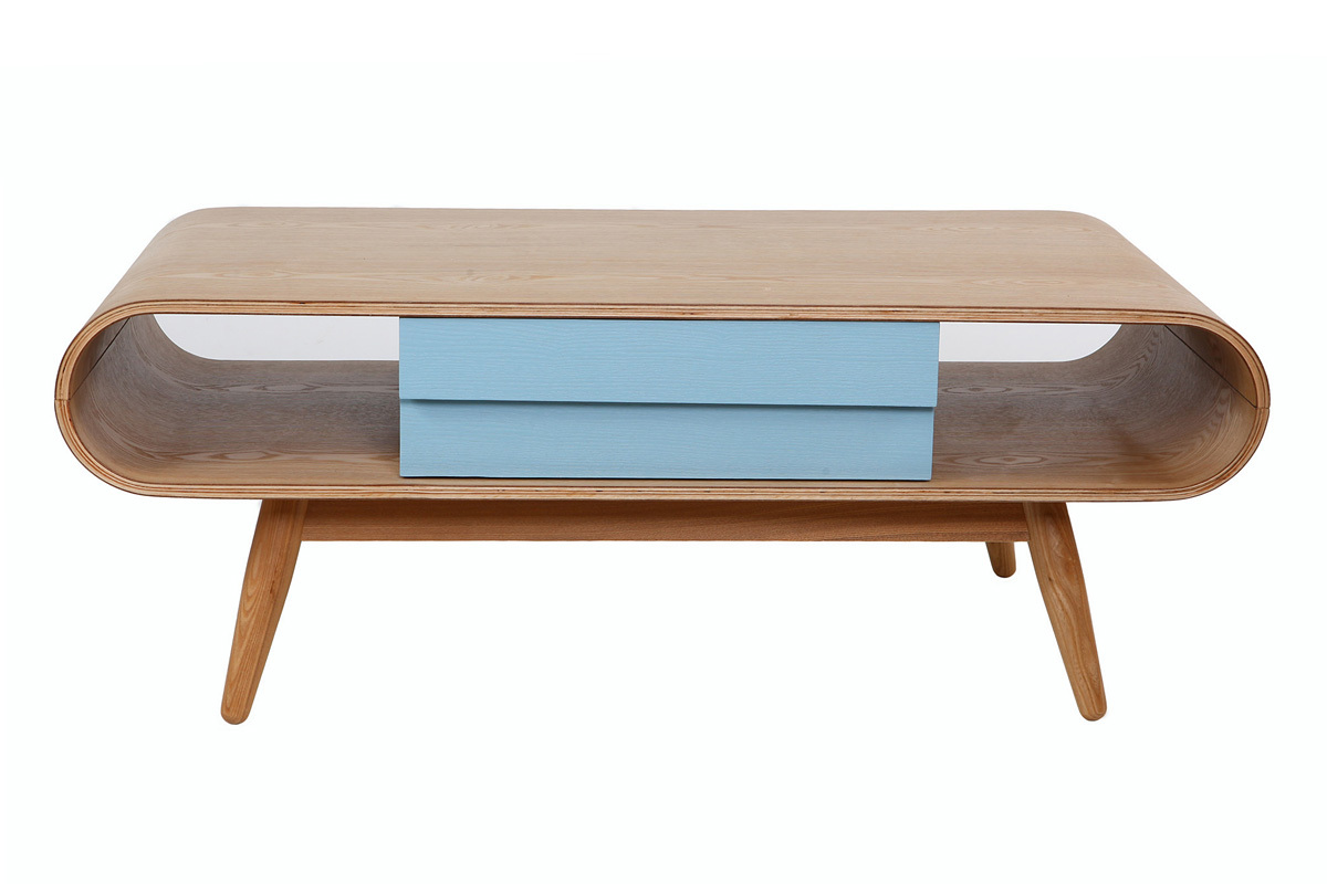 Table basse bois brut scandinave for Table basse bois