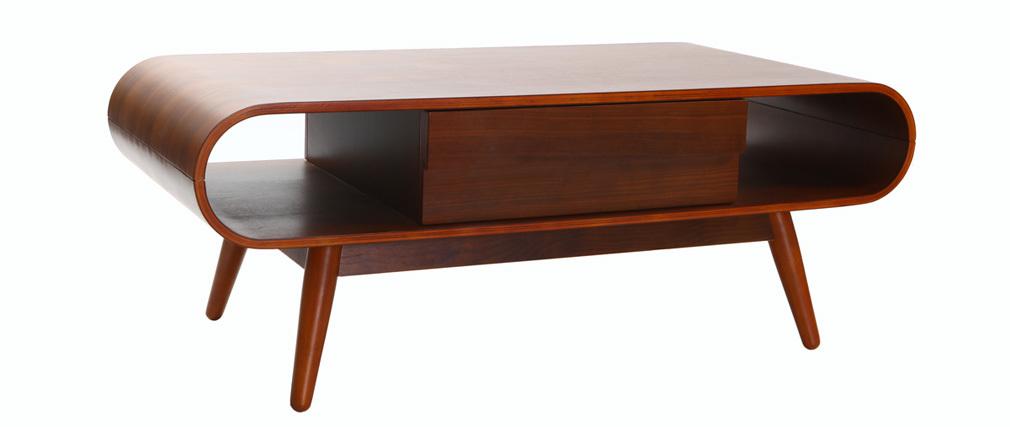 Table basse scandinave bois noyer BALTIK