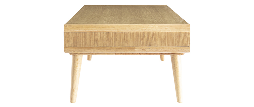 Table basse scandinave chêne clair et gris COPENHAGUE