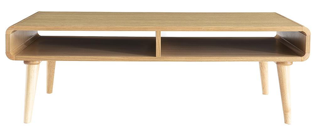 Table basse scandinave chêne clair L120 cm COPENHAGUE