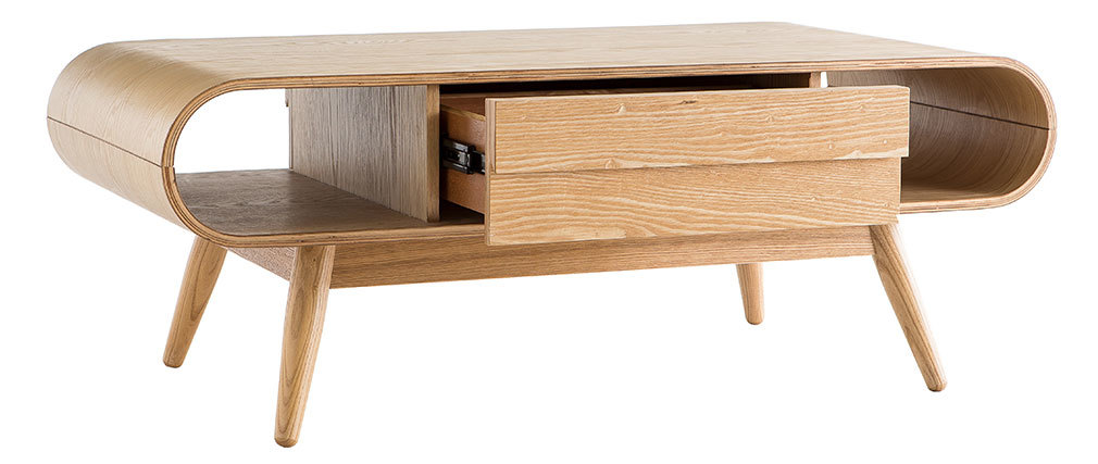 Table basse scandinave frêne naturel BALTIK
