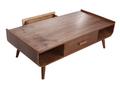 Table basse vintage bois noyer HALLEN
