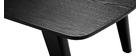 Table basse vintage noire L120cm FIFTIES