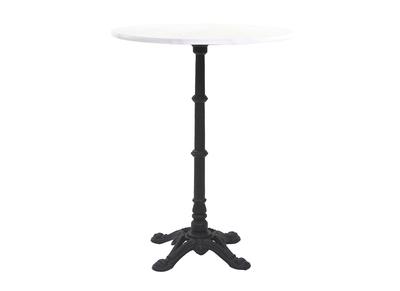 Table bistrot haute ronde en marbre et métal CONTY