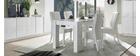 Table console extensible design blanc brillant L54-252 cm COMO