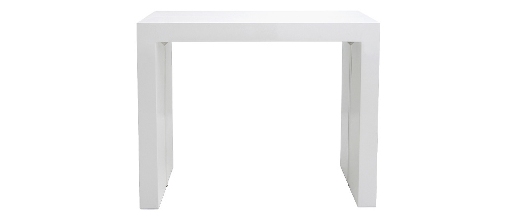 Table console extensible design blanc laqué CALEB