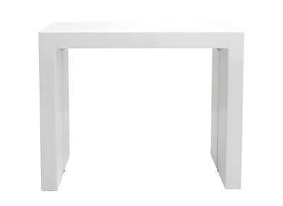 Soldes table extensible et rallonge design miliboo - Table console extensible blanc laque design ...