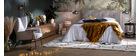 Table d'appoint avec plateau feuille en laiton antique FOGLIA