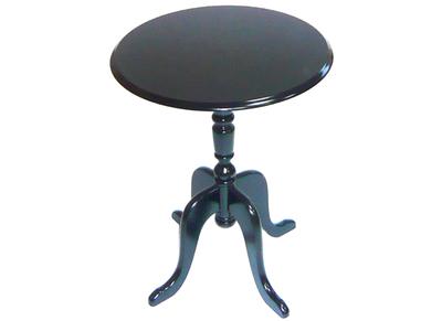 Table d'appoint baroque noire ronde LOUISA