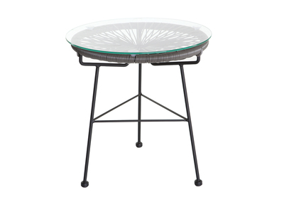 Table d\'appoint de jardin en fils de résine gris BELLAVISTA