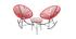 Table d'appoint de jardin en fils de résine rouge BELLAVISTA