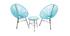 Table d'appoint de jardin en fils de résine turquoise BELLAVISTA