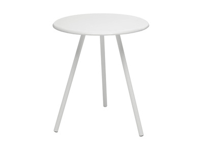 Table d'appoint design  blanche laquee  mat SWEET