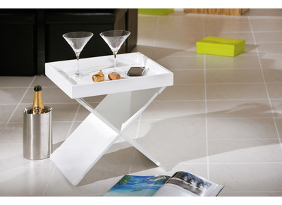 Table d'appoint design blanche POSITANO