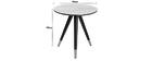 Table d'appoint design effet marbre avec pieds bois et or ALLURE