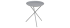Table d'appoint design métal gris MIKADO