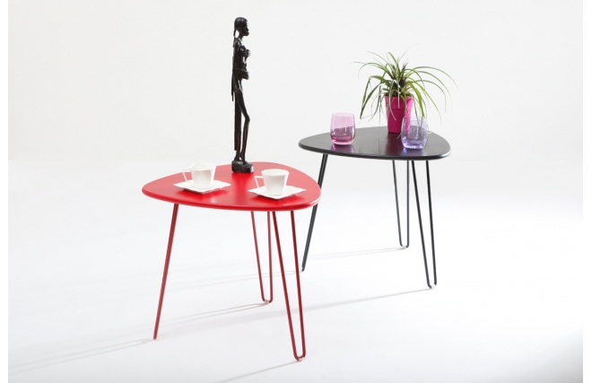 Table d 39 appoint design rouge lakea miliboo - Table appoint design ...