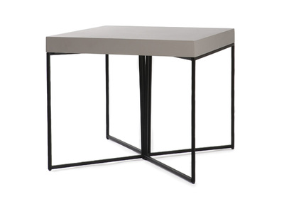 Table d'appoint design taupe mat et noir YTA