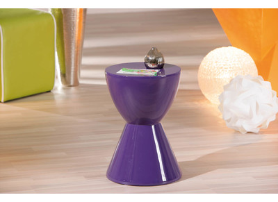 Table d'appoint design violette HANA
