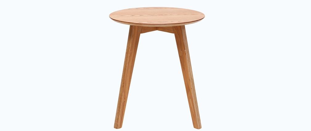 table d 39 appoint scandinave bois naturel orkad miliboo. Black Bedroom Furniture Sets. Home Design Ideas