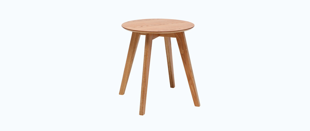 Table d 39 appoint scandinave bois naturel orkad miliboo for Table d appoint transparente