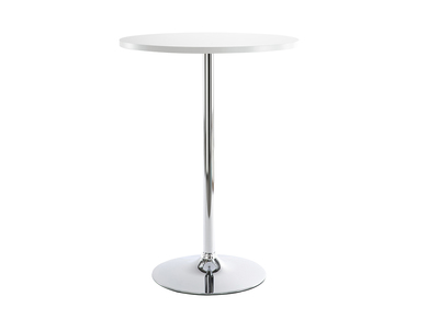 Table de bar blanche ronde James