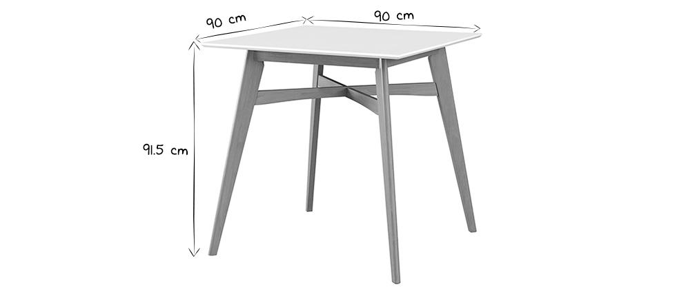 Table de bar carrée bois clair LEENA