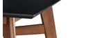 Table de bar carrée bois et noir H91.5 cm LEENA