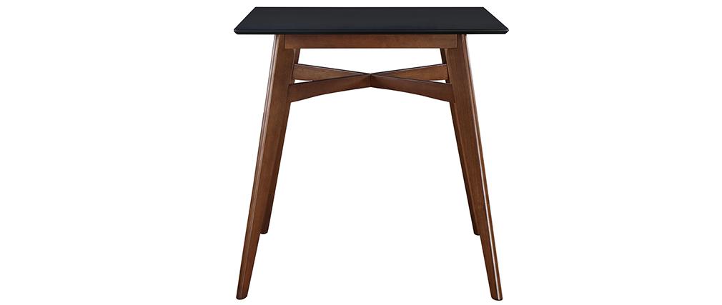 Table de bar carrée bois et noire LEENA