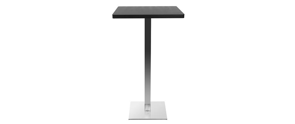 Table de bar design carré noire pied central JORY