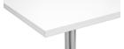 Table de bar design carrée blanche JACK