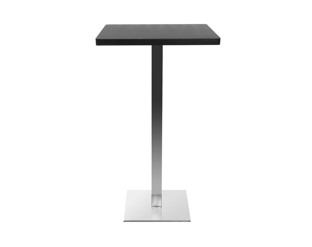 Table de bar design carrée noire JORY