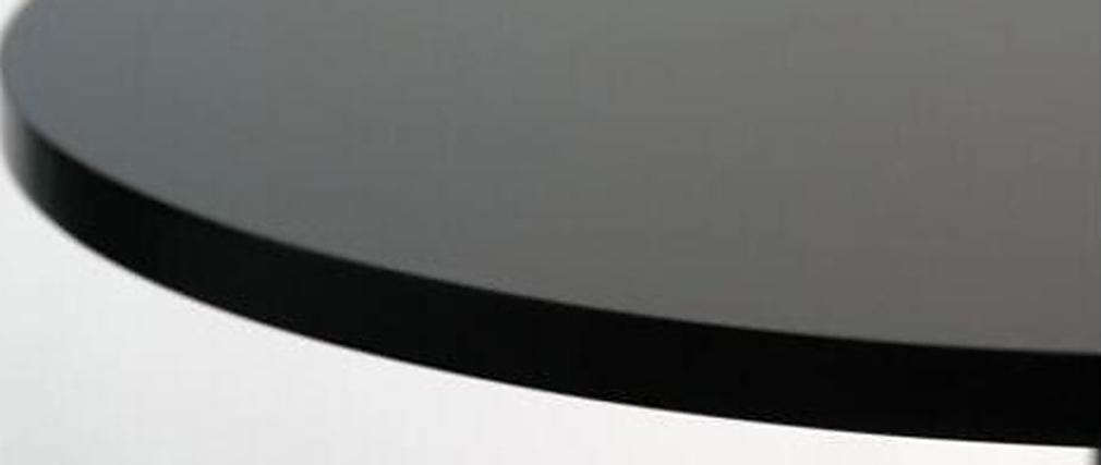 Table de bar design ronde noir JAMES
