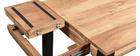 Table de bar extensible en acacia et métal L80-135 cm TRAP
