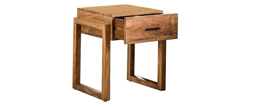 Table de chevet avec tiroir en manguier massif DALE