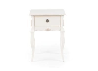 Table de chevet  baroque bois blanc BIANCA