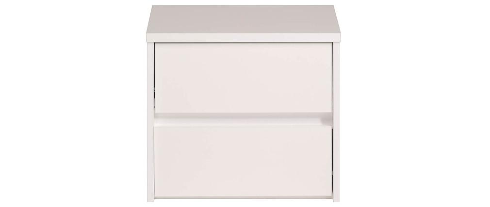 Table de chevet blanc brillant alpha miliboo for Table de chevet laque blanc brillant