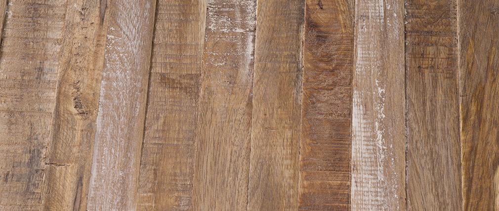 Table de chevet bois et métal blanc ROCHELLE
