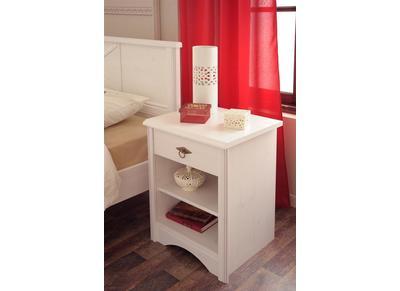 Table de chevet design blanche BAROK