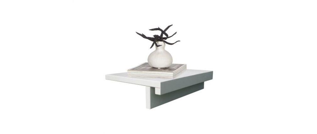 Table de chevet design bois blanc lot de 2 SALT