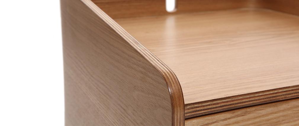Table de chevet design frêne NEVIL