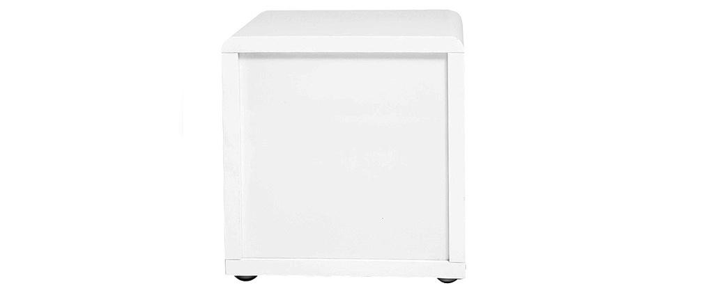 table de chevet design laqu e blanche elio miliboo. Black Bedroom Furniture Sets. Home Design Ideas