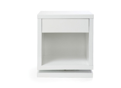 Table de chevet design rotative blanc brillant MAX