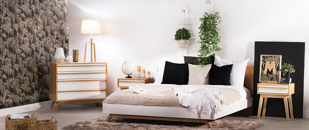 table de chevet design scandinave helia miliboo. Black Bedroom Furniture Sets. Home Design Ideas
